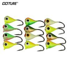 Goture 12pcs 1g 1.4cm Winter Fishing Lure Ice Fishing Jig Fake Artificial Bait Fishing Tackle