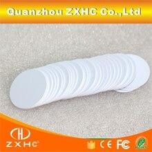 (10 adet/grup) 25mm Ntag216 NFC Etiketi Yuvarlak Şekil Para Kartları Protokolü ISO14443A 888 Bytes Tüm NFC Telefonları