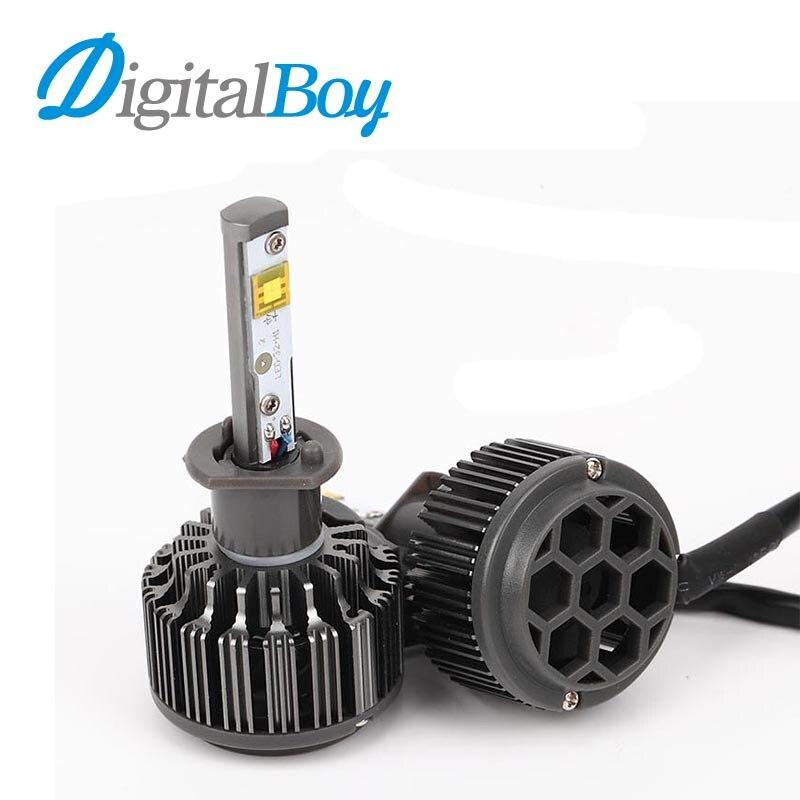 ФОТО Digitalboy 60W Car LED Headlights H1 Auto Car Replacemet Headlamp Fog Light Bulbs Automobile Front Headlamp 6000k Car Lighting
