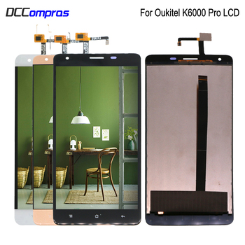 цена на Original For Oukitel K6000 Pro LCD Display Touch Screen Digitizer Assembly Phone Parts k6000 Pro Screen LCD Display Replacement