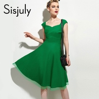 New Elegant Fashion Classical Women Slim Short Sleeve Vintage A Line Dress Party Evening Dresses Vestidos