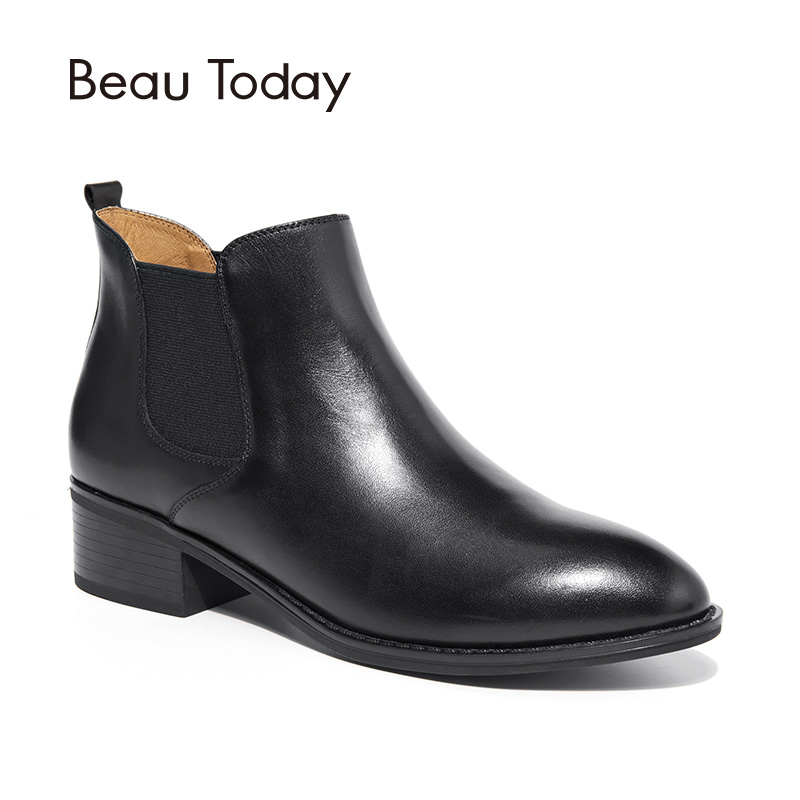 BeauToday Women Chelase Boots Genuine Calf Leather Top Quality Spring Autumn Ankle Length Ladies Boots Handmade 03239 beautoday women chelase boots genuine calf leather top quality spring autumn ankle length ladies boots handmade 03239