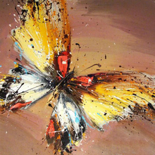 100% Hand Painted Modern Abstract Butterfly Art Oil Painting On Canvas Wall Pictures For Live Rooms Home Decor