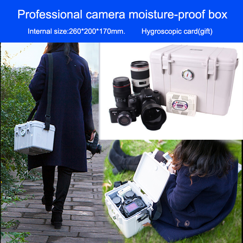 Professional tool case camera bag Photographic equipment Drying oven Safety Mold Sealed box Lens storage case Moistureproof case