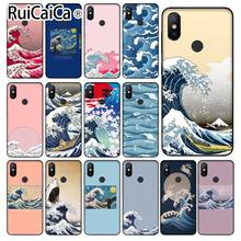 Ruicaica Wave Art Japan Green Illust Classic Coque Shell чехол для телефона Xiaomi mi 6 8 8 SE Note 3 mi Note 3 mi x 2 2 s Res mi 5(China)