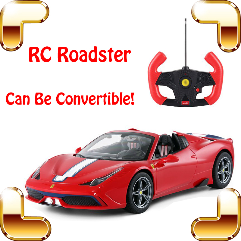 New Arrival Idea Gift 458 Speciale A 1/14 RC Remote Control Car Roadster One Key Switch Model USB Speed Drift Vehicle Toy