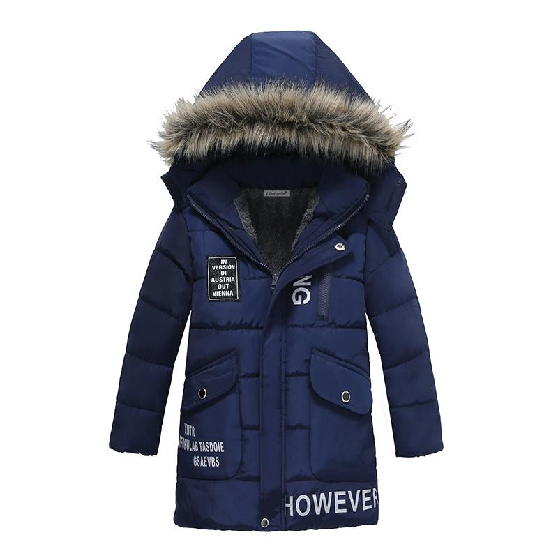 Winter Children Down Parkas 2018 New Fashion Kids Hooded Casual Warm Cotton Padded Boys Outerwear Down Coats Dark Blue hsp069 womens winter jackets coats new thick warm hooded down cotton padded parkas for women s winter jacket female manteau femme 5l21