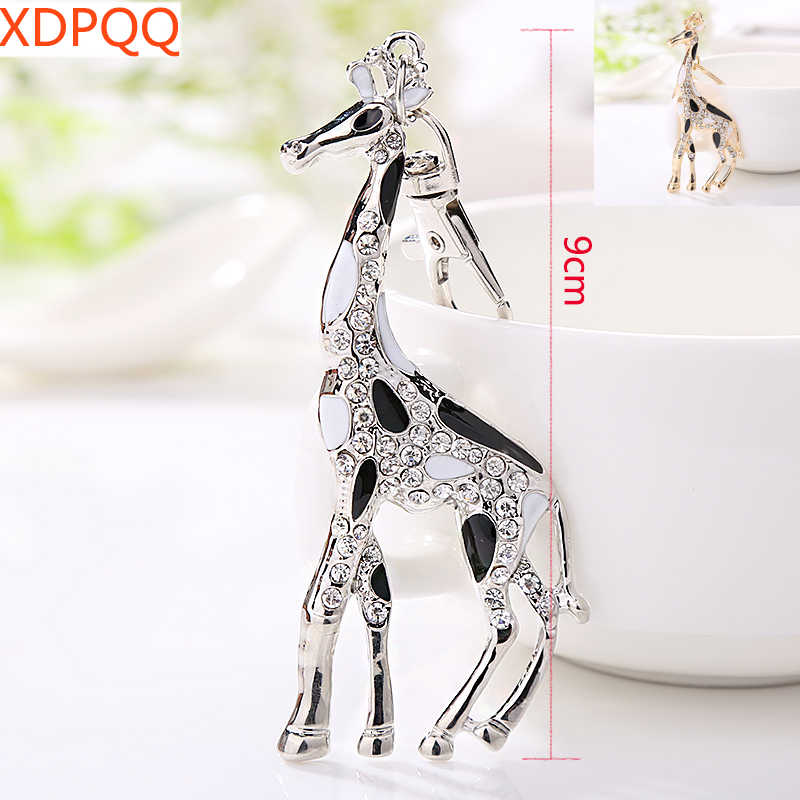 XDPQQ New key chain African jungle giraffe charming keychain car pendant women's wallet novelty jewelry