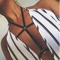 2017 Fashion Sexy Lingerie Women Black Elastic Body Bondage Harness Cage Bra Bralette Bralet Bra Bustier Body Belt Harness