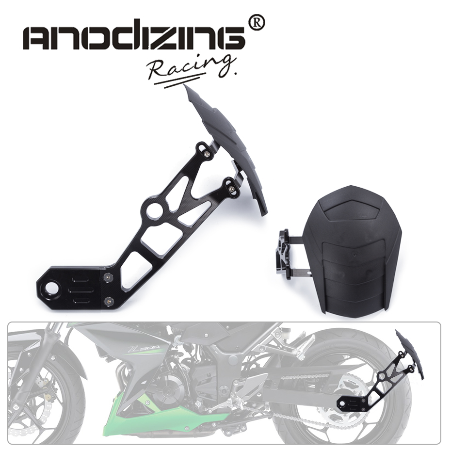 цена на FREE SHIPPING Motorcycle Accessories Rear Fender Mudguard Rear Wheel Fender For Kawasaki Z800 2010-2016