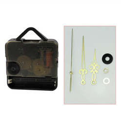 Modern Quartz Wall Clock Mechanism Movement Repair Replacement Parts Tools Kit Set with Gold Hands Wall Clock