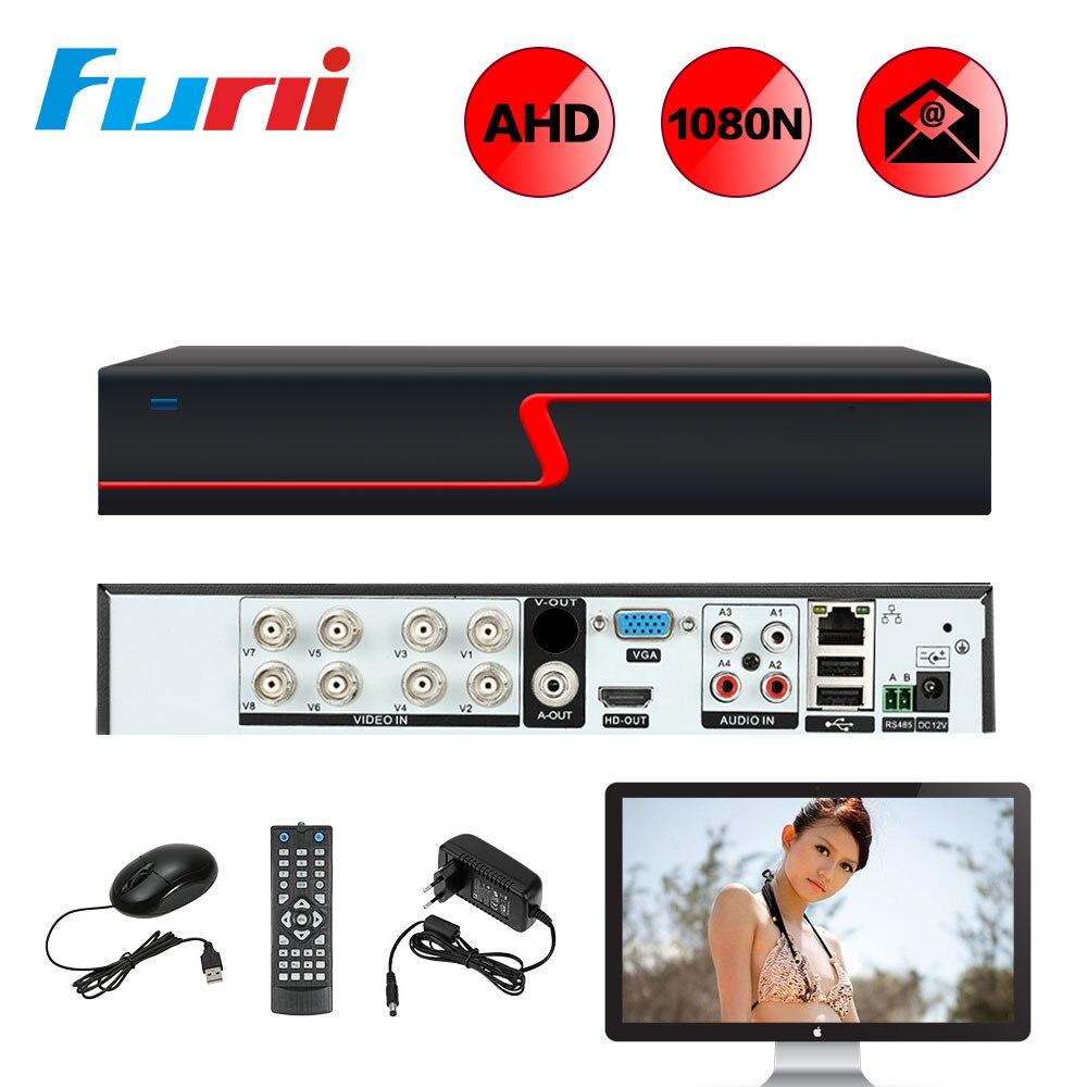 Funi 8CH 1080N Digital Video Recorder For AHD Camera IP Camera Analog Camera AHD DVR Recorder H.264 P2P DVR For CCTV Camera ikonbit tv hunter analog recorder u55