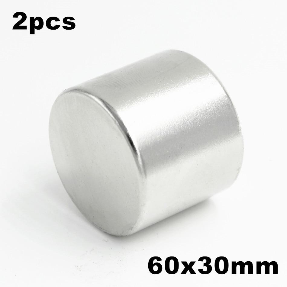 2pcs Super Powerful Strong Bulk Small Round NdFeB Neodymium Disc Magnets Dia 60mm x 30mm N35 Rare Earth NdFeB Magnet цена