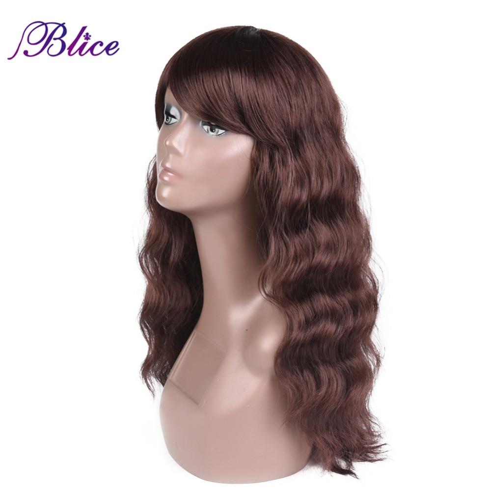 Blice Syntetisk afrikansk amerikanska peruk för kvinnor lång - Syntetiskt hår