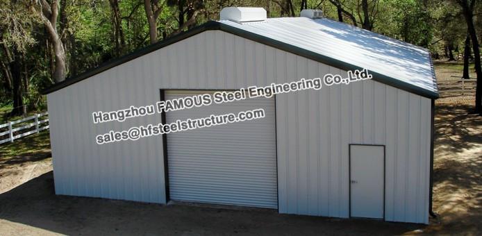 Pre Engineered Structural Steel Small Car Garage