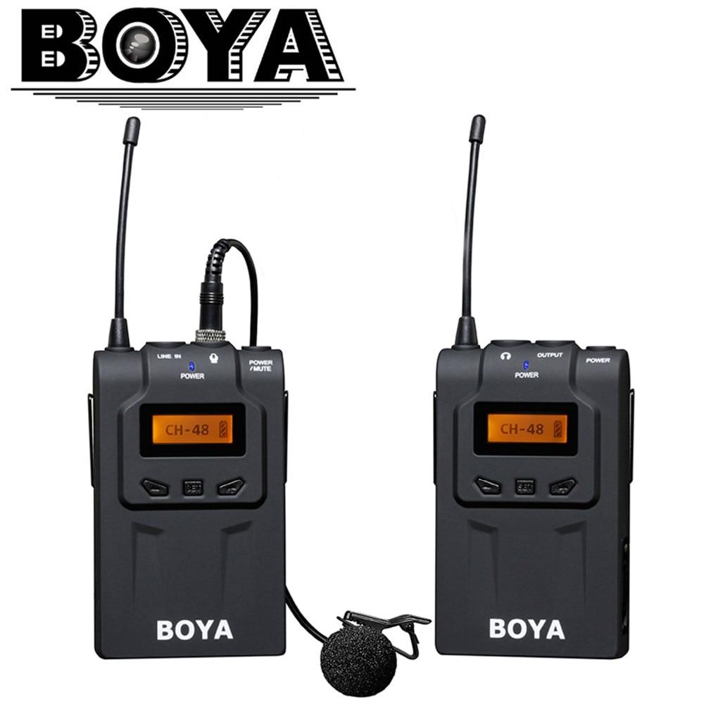BOYA UHF Ultra High Frequency 48-kanálová kamera Bezdrátový mikrofonní systém pro digitální fotoaparáty Canon DSLR Sony  t