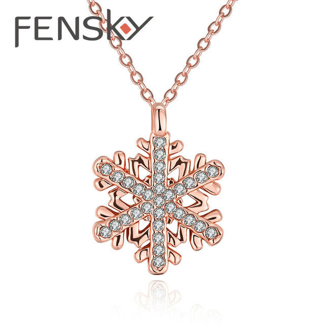 Fensky western style 2 colors choose rose gold color flower necklace fensky western style 2 colors choose rose gold color flower necklace lady fashion necklaces pendants mozeypictures Image collections