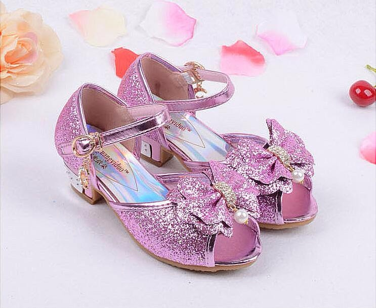 Girls Princess Leather Shoes-19