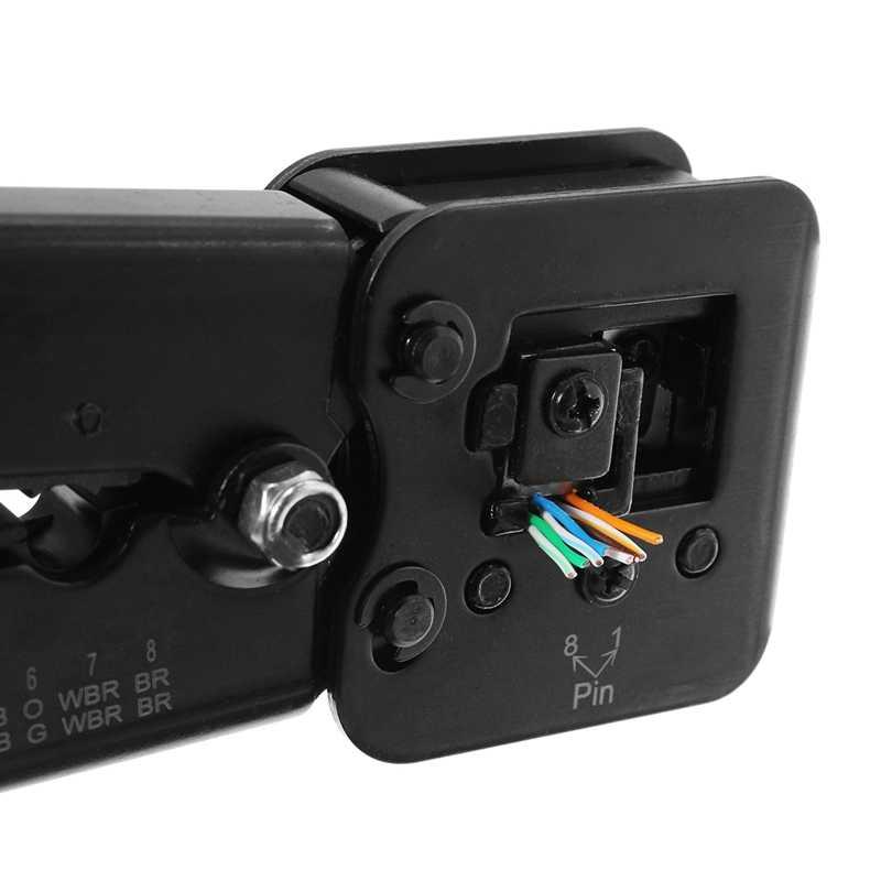 LEORY 6 1080P 8 720p 多機能 RJ45 RJ11 ネットワークプライヤーツールケーブルカッターピアスクリスタルヘッド圧着ツールデュアル目的プライヤー