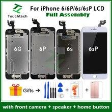 Полная сборка Pantalla для iPhone 6 6S Plus lcd черный и белый без битых пикселей гарантированный дисплей 3D сенсорный экран дигитайзер полная сборка