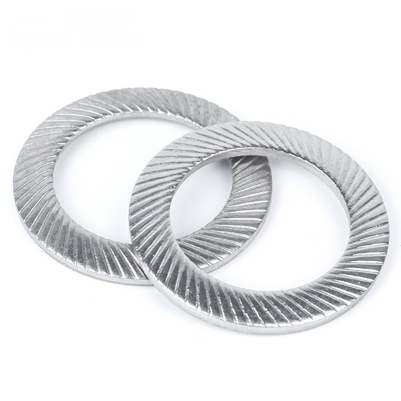 20PCS M3 M4 M5 M6 <font><b>M8</b></font> M10 304 Lock <font><b>Washer</b></font> Stainless Steel Lock <font><b>Washer</b></font> Double-sided Tooth Butterfly Anti-slip Mat image