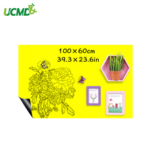 Купить с кэшбэком Erasable Ferrous hold magnets Writing Whiteboard Yellow color Dry Wipe Kids Learning Painting Drawing Board Wall Decor stickers