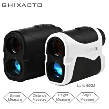 GHIXACTO Telescope Laser Rangefinder Distance Meter 6X 600M Digital Monocular Hunting Golf Range Finder Fog Speed Monitor
