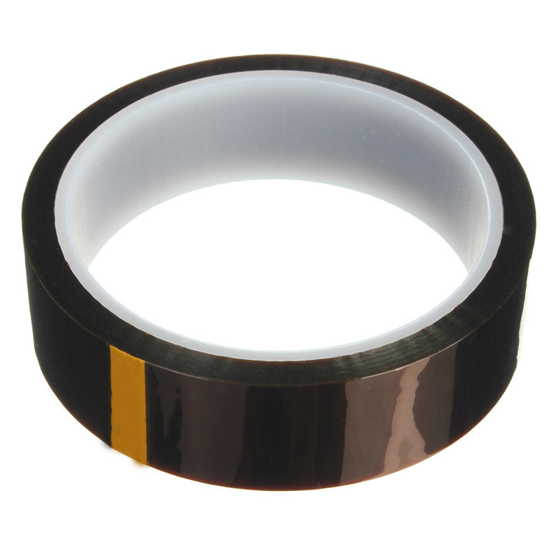 25mm x 33m Heat Resistant High Temperature Kapton Polyimide Tape for BGA 55mm x 33m 100ft kapton tape high temperature heat resistant polyimide fast ship