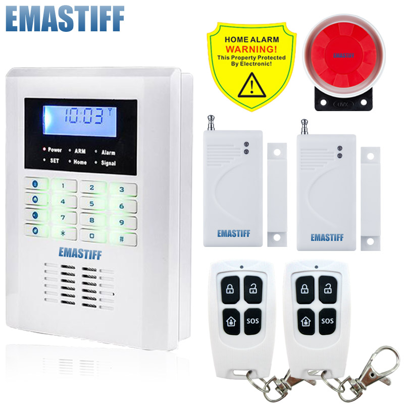 Free Shipping!101 zone 99 wireless zone and 2 wired Quad-Band LCD home security PSTN GSM alarm system 850/900/1800/1900MHZ free shipping 99 wireless zone and 2 wired quad band lcd home security pstn gsm alarm system 3 pet immune pirs 5 new door sensor