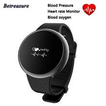 Betreasure BT98 умный Браслет Bluetooth 4.0 кровяного давления кислорода Фитнес трекер Носить Смарт-браслет для iOS и Android