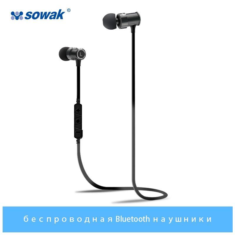 Sowak In-Ear Earphone Stereo Earphone Wireless Bluetooth Earphone 4.1 sports earphones IPX4 sweatproof headphones for phone sowak w1 wireless airpods bluetooth 4 1 headphones hifi 3d stereo sports earbuds noice canceling earphones