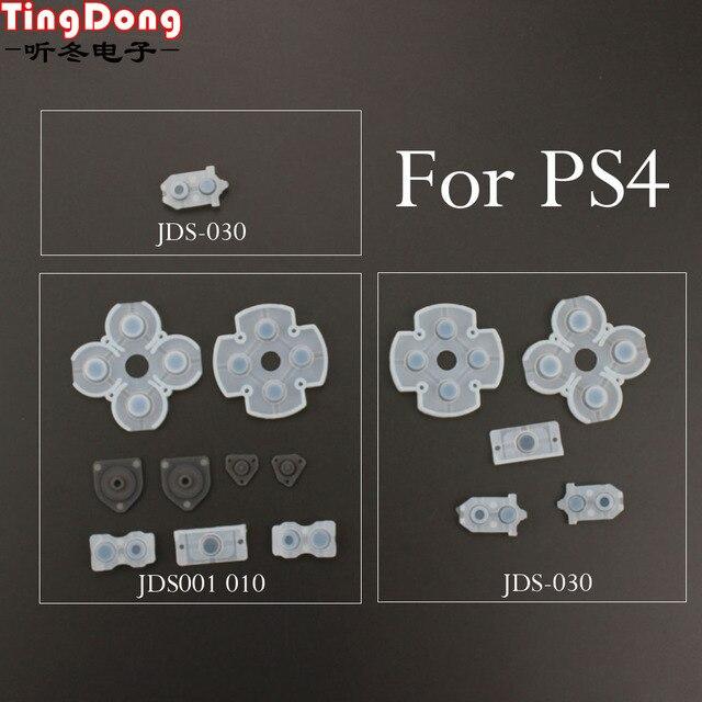 TingDong 100 Set Sony Playstation 4 PS4 Denetleyici İletken Silikon lastik tamponlar Dualshock 4 Düğmeler Onarım Değiştirme