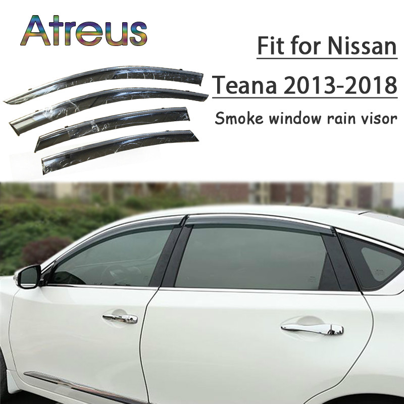 Atreus 1set ABS Rain Smoke Window Visor Car Wind Deflector For Nissan Teana L33 2013 2014