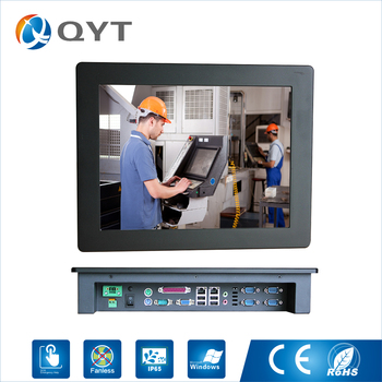 """15"""" industrial touch screen panel pc with Intel j1900 2.0GHz cpu Resolution 1024x768 4GB RAM 32G SSD LPT fanless computer"""