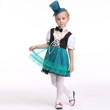 fashion children girls layer tutu dress with hat halloween costume princess cross pageant cosplay performance gown dress cloth - Pageant Girl Halloween Costume