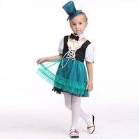 Moda Niños Niñas Vestido Tutú 2layer Con Sombrero Cruz Princesa Del Desfile de Disfraces de Halloween Cosplay Vestido de traje de Rendimiento Paño