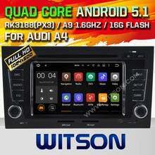 WITSON Quad Core Android 5.1 CAR RADIO for AUDI A4 S4 RS4 2002-2008 GPS SAT NAVI+CAPACTIVE SCREEN+DVR/WIFI/3G+DSP+RDS+16GB flash