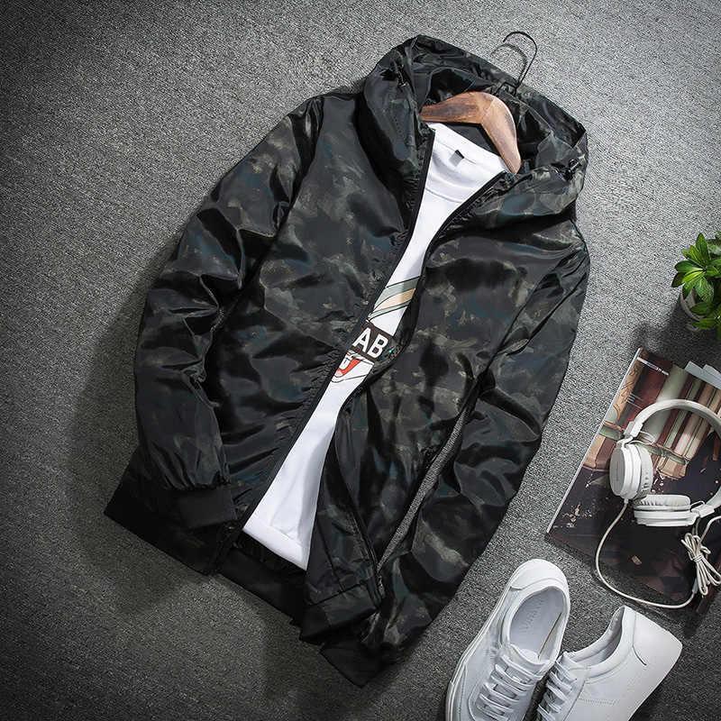 JALEEMAN весна осень мужские повседневные камуфляжное худи куртка мужская водонепроницаемая одежда Мужская ветровка пальто Мужская Верхняя одежда 4X