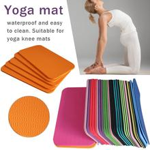 1pc Yoga Mat Knee Pad Non-slip Anti Slip Moisture-resistant Yoga Mats For Plank Pilates Exercise Sports Gym Fitness Workout 183 68cm 1mm suede natural rubber yoga mat anti slip sweat absorption yoga pad fitness gym sports exercise pad yoga mats