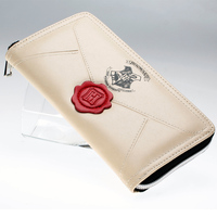 Harry Potter Letter Zip Around Wallet Pu Long Fashion Women Wallets Designer Cosplay Purse Lady Party