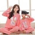 Рождество семья пижамы сопоставления семьи одежда мама и я пижамы семья посмотрите девушка и мать cute bunny горошек pjs