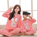 Christmas family pajamas matching family clothes mommy and me sleepwear family look girl and mother cute bunny polka dot pjs