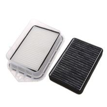 Горячая Высокое качество 2 шт. 2 отверстия Авто салонный фильтр для Vw Sagitar Passat Magotan Tiguan Touran Audi