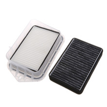 Hot High Quality New 2 Pcs 2 Hole Auto Car Cabin Filter For Vw Sagitar Passat Magotan Tiguan Touran Audi(China)