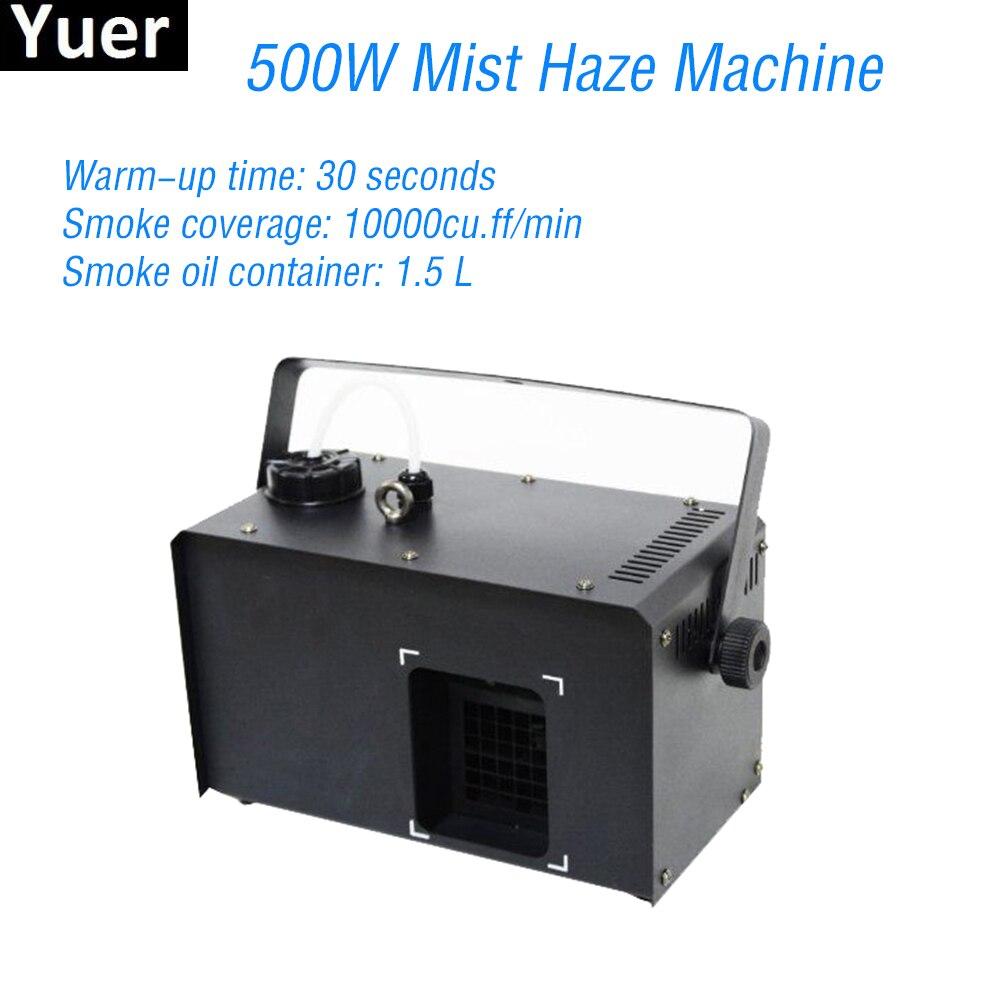 New 500W Mist Haze Machine Disco DJ Lights Party Christmas Equipment Smoke Projector Stage Effect Lighting Fogger Machine