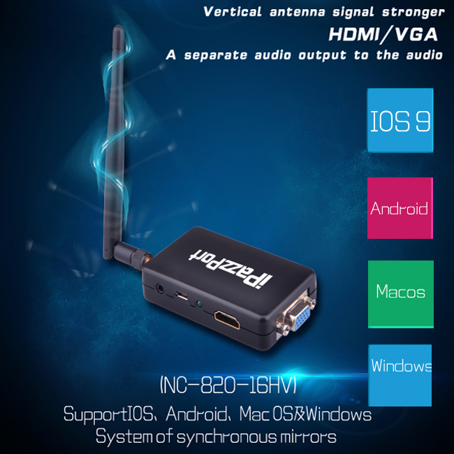 Wireless Display HD 1080P Support DLNA Airplay Protocol Miracast Mirror Intel Suit Windows/Mac OS/iOS/Android TV stick ipazzport car karplay 7 lcd wireless display dlna miracast