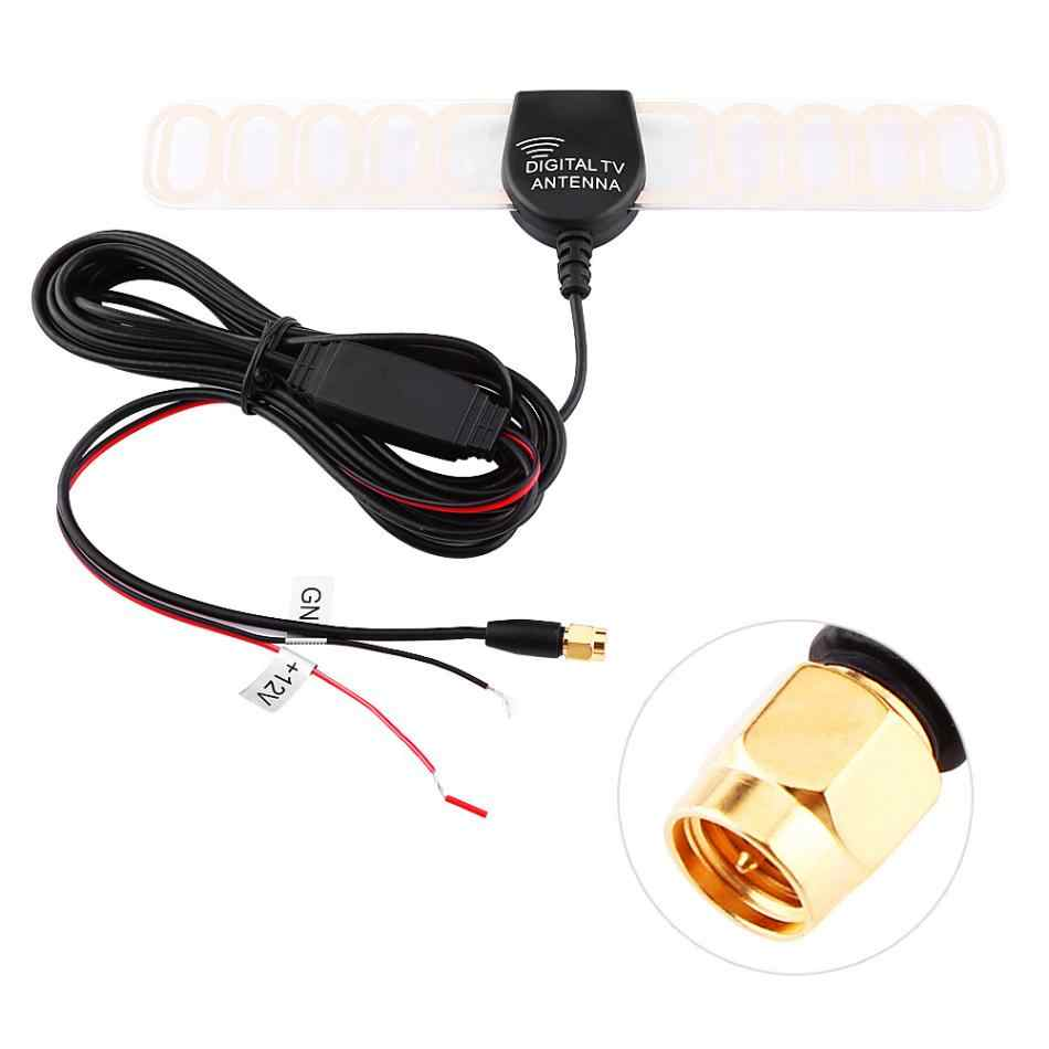 12v Aerial Antenna Amplifier Booster FM DVB-T Antenna With SMA (M) Plug Connector Universal Car Digital TV