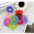 20pcs/lot Mixed Candy Color Telephone Wire Cable Elastic Hair Bands Rope for Women Ladies Female Girls DIY Hair Accessories S525
