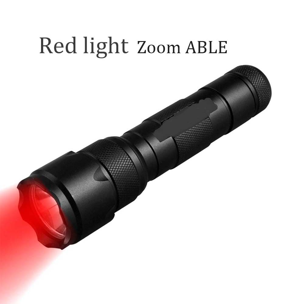 Portable Lighting Flashlight 1 Mode  RED/green UV  Luz Tactical Flashlight Zoom Torch Bicycle Lantern Hunting Flash Light Using