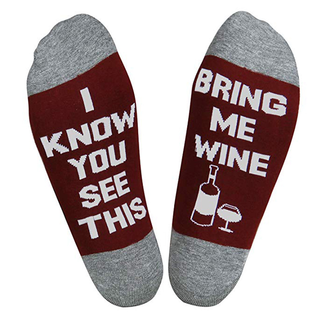 2 Pair Unisex Socks Wine Socks If You Can Read This Bring Me A Glass Of Wine NEW
